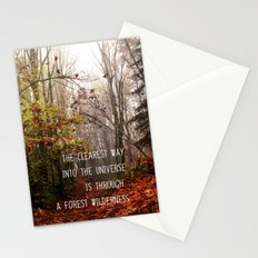 The clearest way into the universe Stationery Cards