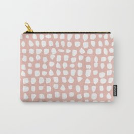 Dots / Pink Carry-All Pouch