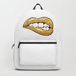 Golden lips Backpack