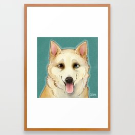 Husky Portrait Framed Art Print