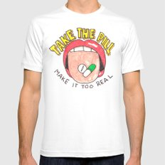 Take a Pill White MEDIUM Mens Fitted Tee