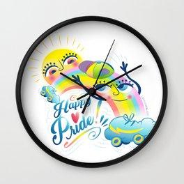 Happy Pride LGBTI Wall Clock