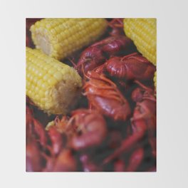 Crawfish Boil Throw Blanket