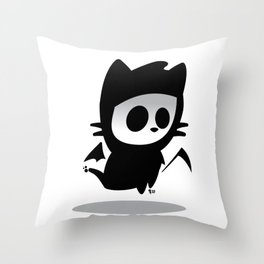 Petitemort — chat Throw Pillow
