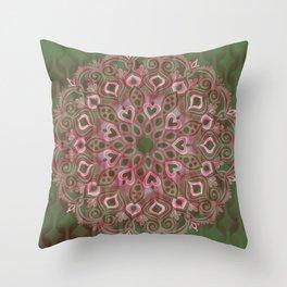 Gaussian Green Throw Pillow