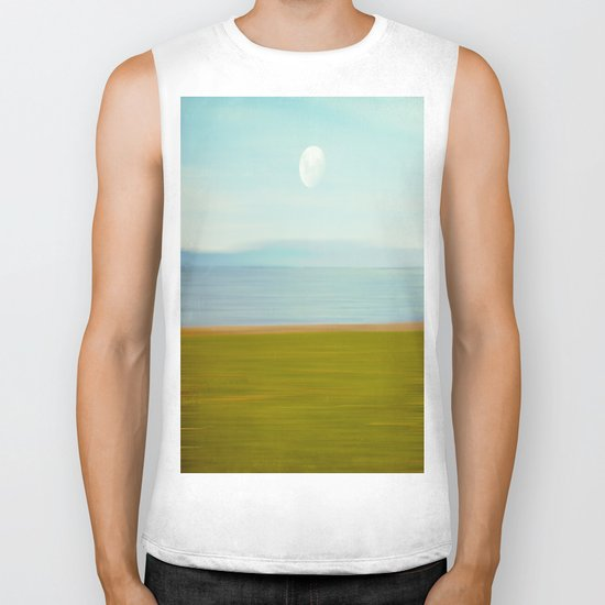 Moon on Beach Biker Tank