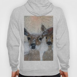 Deer in the Snowy Woods Hoody