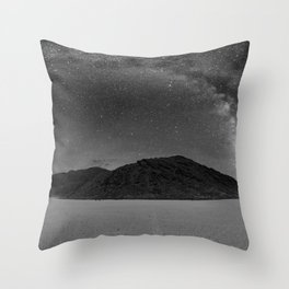 Milky Way at Racetrack Playa in Death Valley, California Throw Pillow