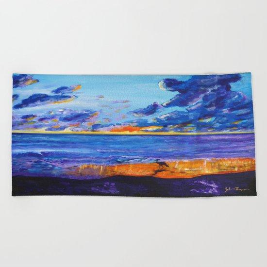 September sunset Beach Towel