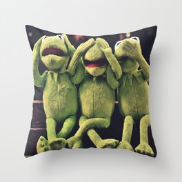 Kermit - Green Frog Throw Pillow