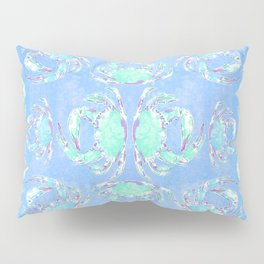 Watercolor blue crab Pillow Sham
