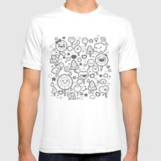 Sweet Pattern MEDIUM Mens Fitted Tee White