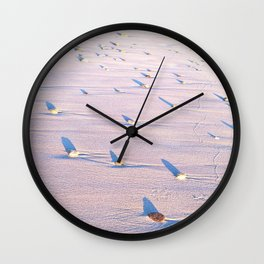 abstract surfing Wall Clock