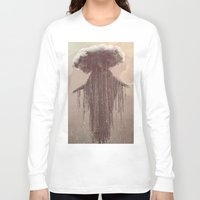 lady gaga Long Sleeve T-shirts featuring storm lady by Maria Enache