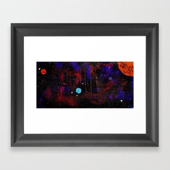 Someone Solar Framed Art Print