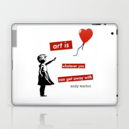 'Art is whatever you can get away' with by Angela Stimson Laptop & iPad Skin