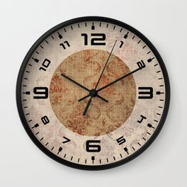 Aged Damask Texture 1 Wall Clock