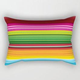 Mexican Blanket - Rainbow Striped Rectangular Pillow