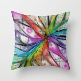 Kaleidoscope Dragonfly Throw Pillow