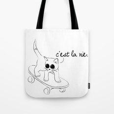 CARELESS CAT - C'EST LA VIE Tote Bag