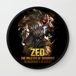 League of Legends ZED - The Master Of Shadows - Video games Champion Wall Clock