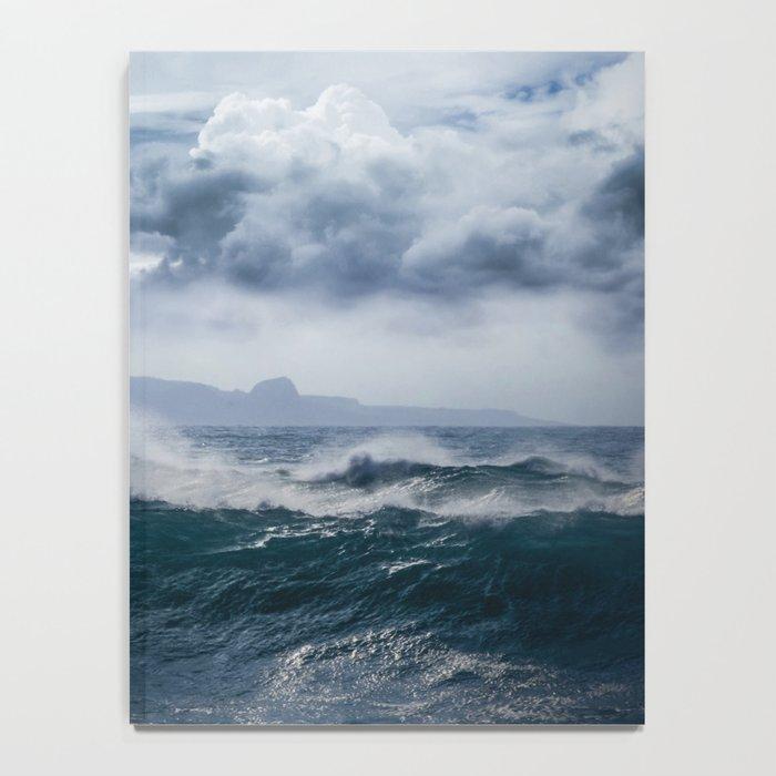 He inoa wehi no Hookipa  Pacific Ocean Stormy Sea Notebook