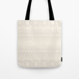Cream and Coffee Chenille Digital Pattern Tote Bag