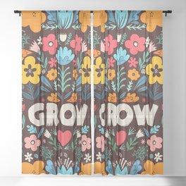 GROW floral Sheer Curtain