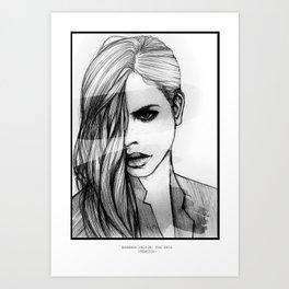 BARBARA PALVIN: THE FACE Art Print
