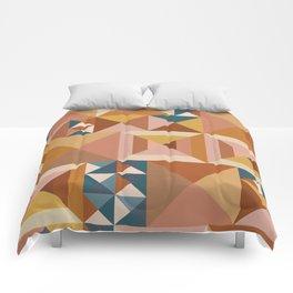 Modern Triangle Quilt Blocks Comforters