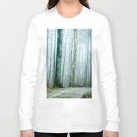 gray Long Sleeve T-shirts featuring Feel the Moment Slip Away by Olivia Joy StClaire