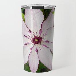 Pale Pink Clematis Travel Mug