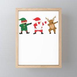 Dabbing Efl, Santa Claus, Reindeer  Framed Mini Art Print