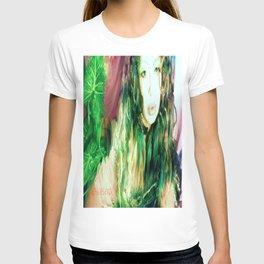 Fairy feather  fairy goddess green feathers  kashmir,art print  T-shirt