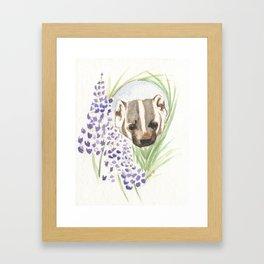 The American Badger Framed Art Print