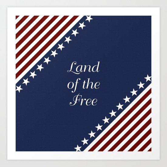 U.S.A. - Land Of The Free Art Print