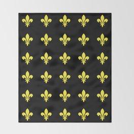 Fleur de lys 4-lis,lily,monarchy,king,queen,monarquia. Throw Blanket