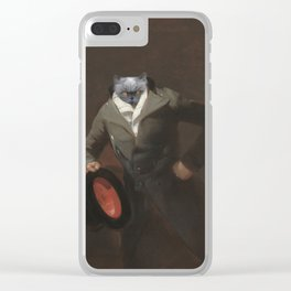 Cat with a hat Clear iPhone Case