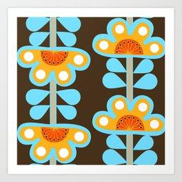swedish flowers Art Print