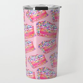 Birthday Cake - Pink BG Travel Mug