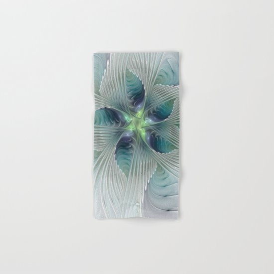 A Floral Fantasy, Abstract Fractal Art Hand & Bath Towel