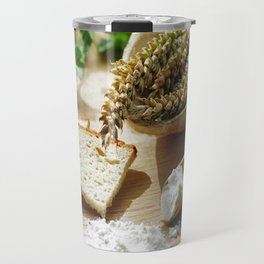 Fresh bread and wheat germ Travel Mug