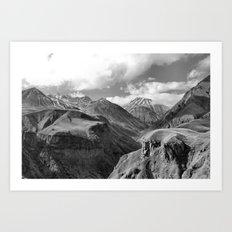 Caucasian Peak Art Print