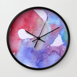 Symphony in blue minor II Wall Clock