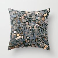 letters Throw Pillows featuring Letters by Abby Wheeler
