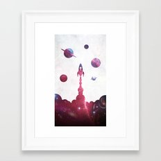 space rocket Framed Art Print