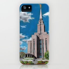 Oquirrh Mountain LDS Temple iPhone Case