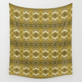 Golden Ornate Pattern Wall Tapestry