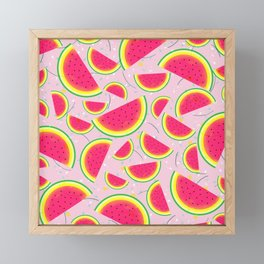 Melon Fiesta Pattern Framed Mini Art Print