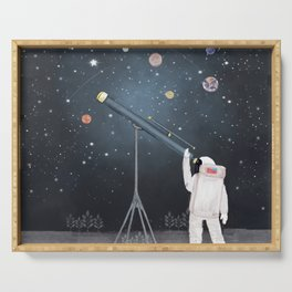 Astronaut Astrology Serving Tray